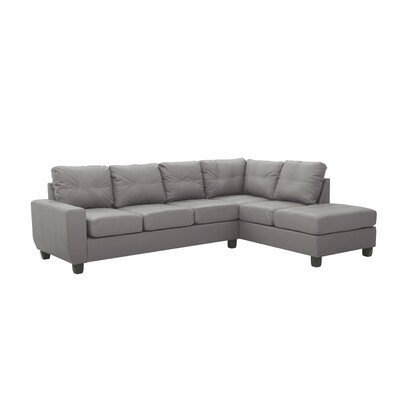 Muttontown Reversible Sectional Upholstery: Gray