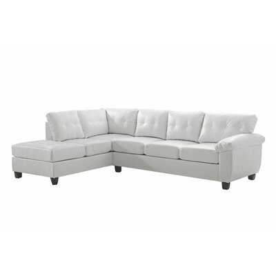 Old Westbury Reversible Sectional Upholstery: White