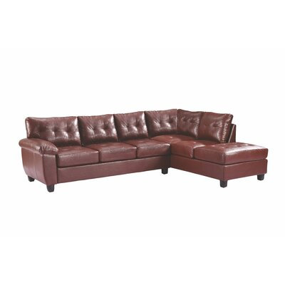 Childress Reversible Sectional Upholstery: Brown