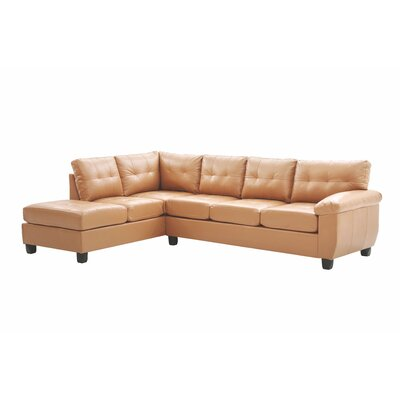 Old Westbury Reversible Chaise Sectional Upholstery: Tan