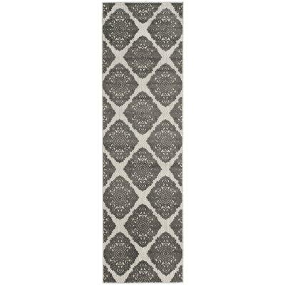Mannox Cream/Gray Indoor/Outdoor Area Rug Rug Size: Runner 23 x 8