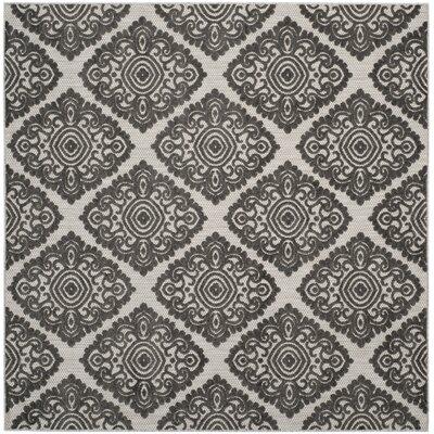 Mannox Cream/Gray Indoor/Outdoor Area Rug Rug Size: Square 67