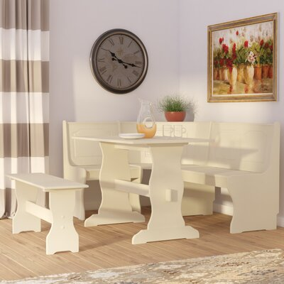 Gosselin 3 Piece Dining Set Finish: Antique White