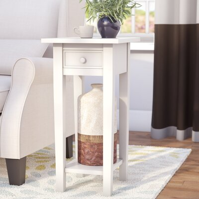 Anawan End Table With Storage Color: Antique White
