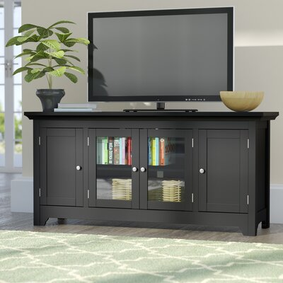 Clarissa TV Stand Finish: Matte Black