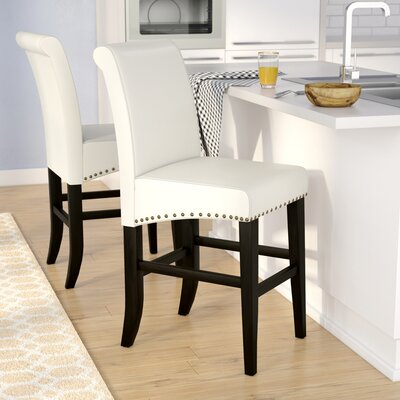 Shaws 25 Bar Stool Upholstery: Ivory