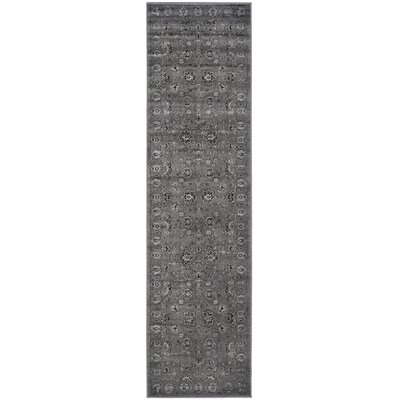 Bainsby Dark Gray / Light Gray Area Rug Rug Size: Runner 22 x 8