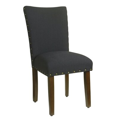 Clymer Classic Parsons Chair Upholstery: Cream, Finish: Mid-tone Walnut
