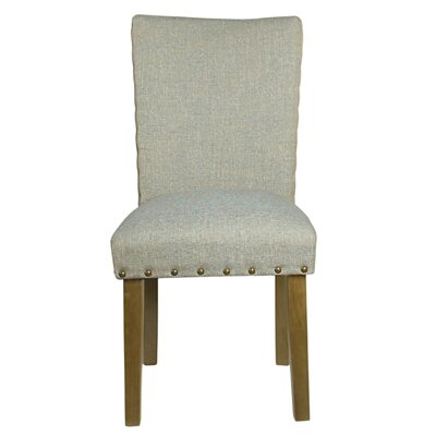 Clymer Classic Parsons Chair Finish: Honey Oak, Upholstery: Vapor Teal