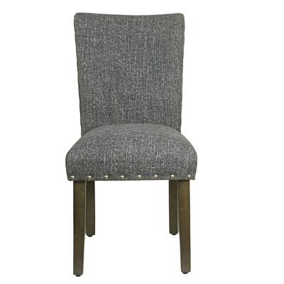 Clymer Classic Parsons Chair Finish: Gray Washed, Upholstery: Slate Gray
