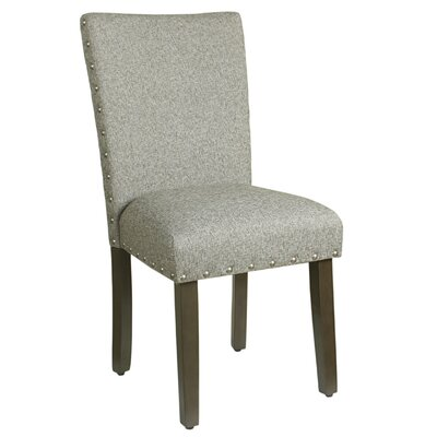 Clymer Classic Parsons Chair Finish: Dark Walnut, Upholstery: Sterling Gray