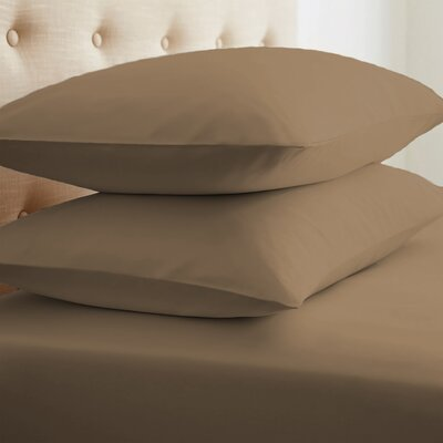Grange Premium Double-Brushed Pillow Case Size: Standard, Color: Taupe