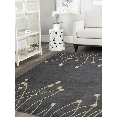 Bingham Hand-Tufted Wool Gray/Beige Area Rug Rug Size: Square 6