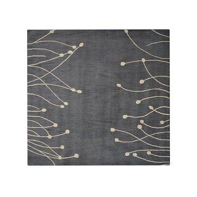 Bingham Hand-Tufted Wool Gray/Beige Area Rug Rug Size: Round 8