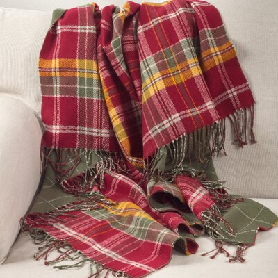 Auburnhill Classic Plaid Pattern Tassel Border Design Throw