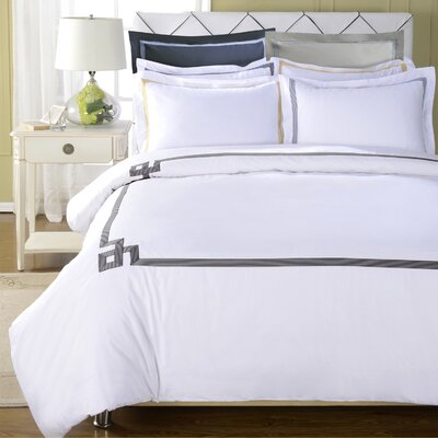 Goehring 200 Thread Count 100% Cotton Duvet Set Size: King / California King, Color: Black