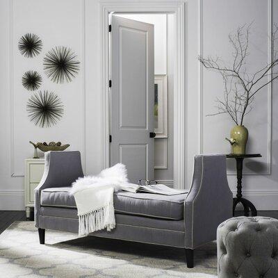 Greer Settee Upholstery: Gray