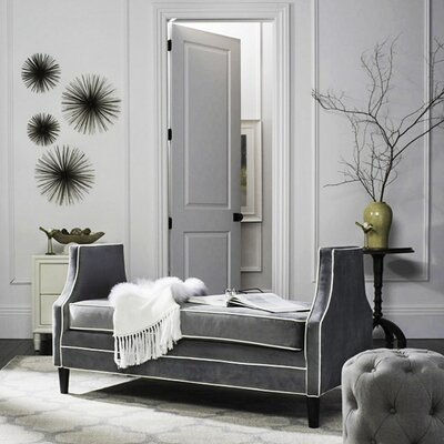 Greer Settee Upholstery: Dark Gray