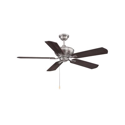 Evansburg 5-Blade Ceiling Fan Finish: Brushed Pewter