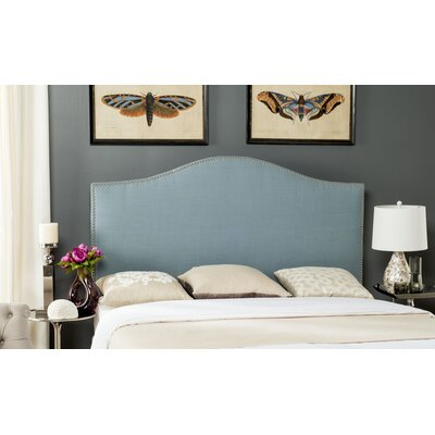 Carolyn Upholstered Panel Headboard Upholstery: Sky Blue, Size: Queen