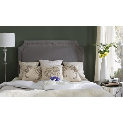 Laurie Upholstered Panel Headboard Size: Full, Color: Artic Grey, Upholstery: Linen
