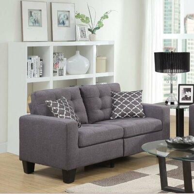 Bateson Loveseat Upholstery: Gray