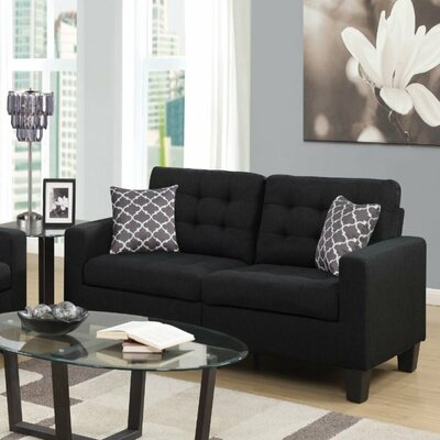 Bateson Sofa Color: Black