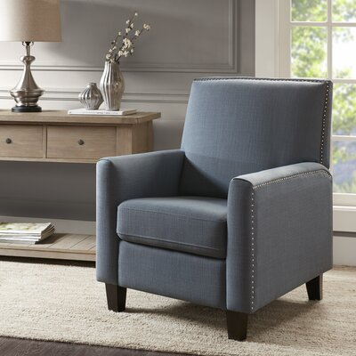 Brightling Manual Lift Assist Recliner Upholstery: Blue
