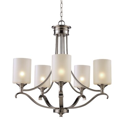 Glenshaw 5-Light Shaded Chandelier Finish: Brushed Nickel