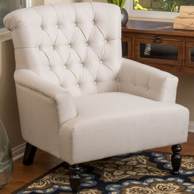 Verona Tufted Fabric Armchair Upholstery: Beige