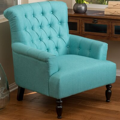 Verona Tufted Fabric Armchair Upholstery: Teal