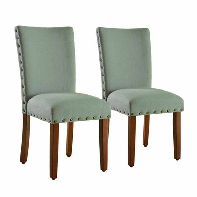 Lincolnshire Upholstered Dining Chair Finish: Brown, Upholstery: Sea Foam