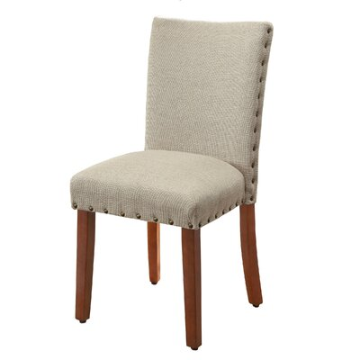 Lincolnshire Upholstered Dining Chair Finish: Brown, Upholstery: Tan