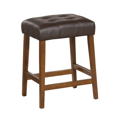 Perot 24 Bar Stool Finish: Mid-Tone Brown, Upholstery: Chocolate Brown