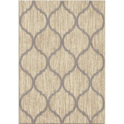 Nisbett Beige/Gray Area Rug Rug Size: 53 x 76
