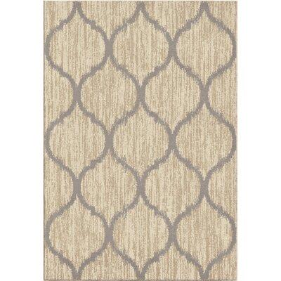 Nisbett Beige/Gray Area Rug Rug Size: 710 x 1010