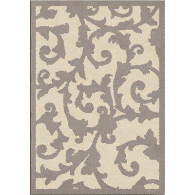 Nisbett Gray/Beige Area Rug Rug Size: 710 x 1010