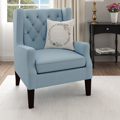 Fredonia Wingback Chair Upholstery: Blue