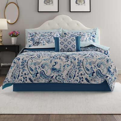 Dewart Comforter Set Size: King, Color: Blue