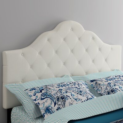 Harbert Queen Upholstered Panel Headboard Upholstery: Ivory