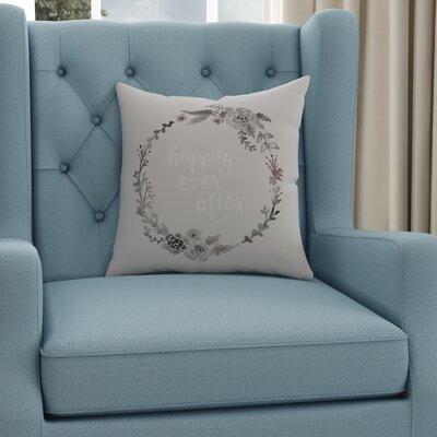 Lyle Indoor/Outdoor Throw Pillow Size: 18 H x 18 W x 4 D, Color: Gray/Red