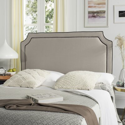 Cloverdale Upholstered Panel Headboard Upholstery: Taupe, Size: Queen