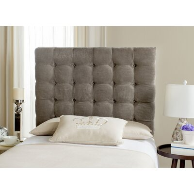 Carrie Twin Upholstered Panel Headboard Upholstery: Greige