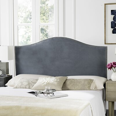 Carolyn Upholstered Panel Headboard Upholstery: Wedgwood Blue, Size: Queen