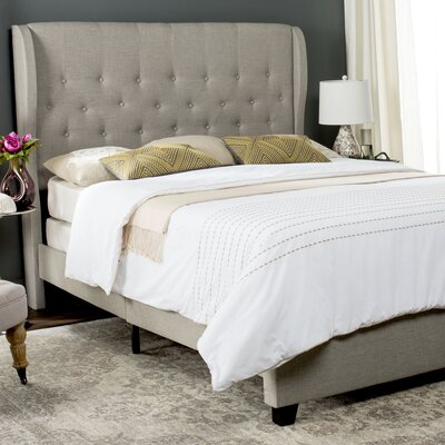 Merrin Upholstered Panel Bed Size: Full, Upholstery: Light Gray