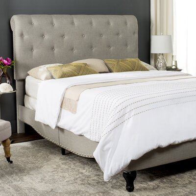 Hathaway Upholstered Platform Bed Size: Full, Upholstery: Light Grey