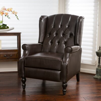 Henley Recliner Upholstery: Brown Bonded Leather