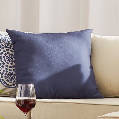 Georgia Outdoor Throw Pillow Color: Navy Blue, Size: 18 H x 18 W x 1 D