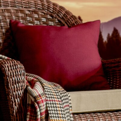 Georgia Outdoor Throw Pillow Color: Red, Size: 20 H x 20 W x 1 D