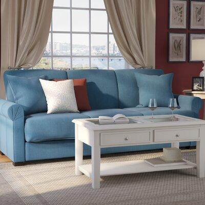 Lawrence Full Convertible Upholstered Sleeper Sofa Upholstery: Blue